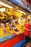 Fruit and veg stall, Malaga. Royalty Free Stock Images