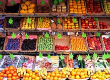 Fruit and veg stall, Paris. Royalty Free Stock Images