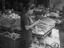 Fruit and veg street scene Thailand. Royalty Free Stock Photo
