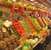 Fruit and vegatable stall southern spain Stock Images