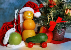 Fruit and vegatables christmas decoration Stock Photography
