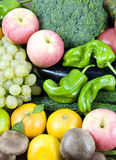 Fruit and vegetable. All kinds of fruit and vegetable royalty free stock images