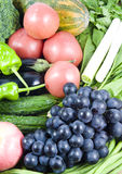 Fruit and vegetable. All kinds of fruit and vegetable royalty free stock image