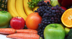 Fruit and vegetable. In white background Royalty Free Stock Images