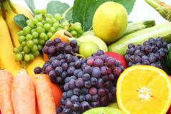 Fruit and vegetable. In white background Royalty Free Stock Photo