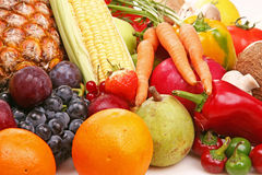 Fruit and vegetable. Small display of fresh Fruit and vegetable Royalty Free Stock Photos