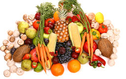 Fruit and vegetable. Small display of fresh  fruit and vegetable Royalty Free Stock Photography