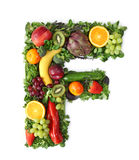 Fruit and vegetable alphabet. Letter F Stock Photo
