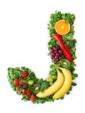 Fruit and vegetable alphabet. Letter J Stock Images