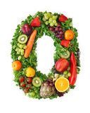 Fruit and vegetable alphabet. Letter O Stock Images