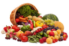 Fruit and vegetable assortment Stock Photo