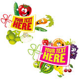 Fruit and vegetable background Royalty Free Stock Photos