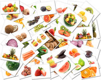 Fruit and vegetable background Stock Photography