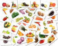 Fruit and vegetable background Royalty Free Stock Photography