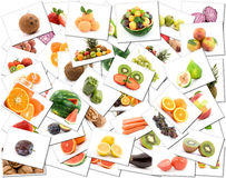 Fruit and vegetable background Stock Photo