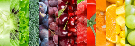 Fruit and vegetable background Royalty Free Stock Image