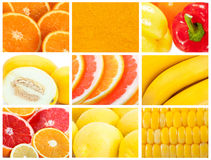 Fruit and vegetable backgrounds Royalty Free Stock Photos