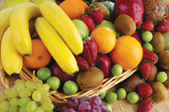Fruit and vegetable basket Royalty Free Stock Images