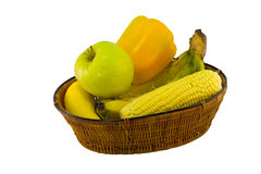 Fruit and Vegetable Basket  Royalty Free Stock Photos
