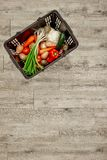 Fruit And Vegetable Basket Royalty Free Stock Photo