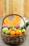 Fruit and vegetable basket Stock Image