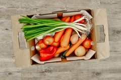 Fruit And Vegetable Box Stock Photos