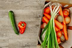 Fruit And Vegetable Box Royalty Free Stock Images