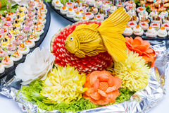 Fruit and vegetable carving Royalty Free Stock Photo