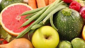 Fruit and vegetable. Close up on fruit and vegetable Royalty Free Stock Photo