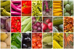 Fruit and Vegetable Collage royalty free stock images