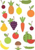 Fruit and vegetable collection. Royalty Free Stock Photography