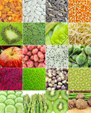 Fruit and vegetable collection Royalty Free Stock Photos
