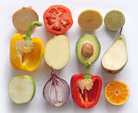 Fruit and vegetable collection Stock Image