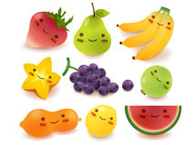 Fruit and vegetable Collection. Vector File EPS10 Stock Photos