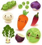 Fruit and vegetable Collection. Vector File EPS10 Royalty Free Stock Photo