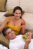 Fruit vegetable couple. Royalty Free Stock Photo
