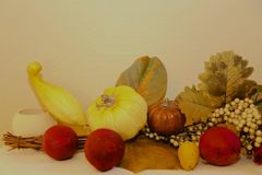 Fruit and vegetable decoration Royalty Free Stock Photography