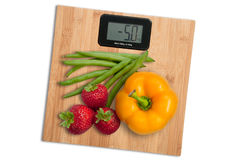 Fruit and vegetable diet to lose weight Royalty Free Stock Image