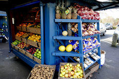 Fruit and vegetable display Royalty Free Stock Image