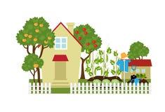 Fruit and vegetable garden stock illustration