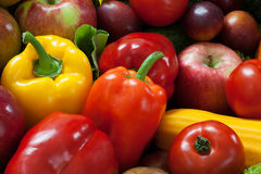 Fruit and vegetable heap Stock Photos