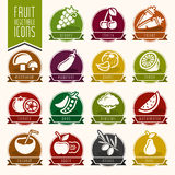 Fruit and Vegetable Icon Set Royalty Free Stock Image