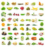 Fruit and vegetable isolated on white Stock Image