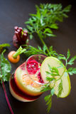 Fruit and Vegetable Juice. Fresh apple,caroot and beetroot juice Stock Photo