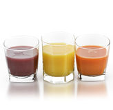 Fruit And Vegetable Juice. Fresh Fruit And Vegetable Juice Glasses Royalty Free Stock Photo