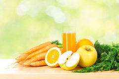 Fruit and vegetable juice in glass Stock Photo