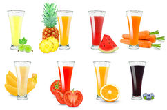 Fruit and vegetable juice Stock Photography