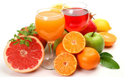 Fruit and vegetable juice. Royalty Free Stock Image