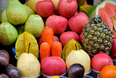 Fruit and vegetable for juices. Various fresh fruit and vegetable for making juices, shown as raw and fresh fruit, and healthy life style Royalty Free Stock Image
