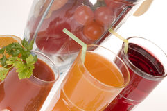 Fruit and vegetable juices Royalty Free Stock Photography